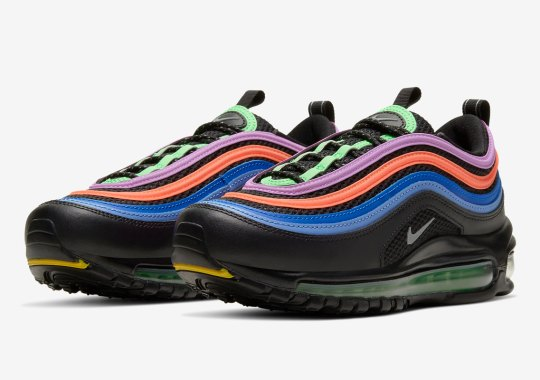 This Nike Air Max 97 For Kids Is Illuminated By Bright Neons