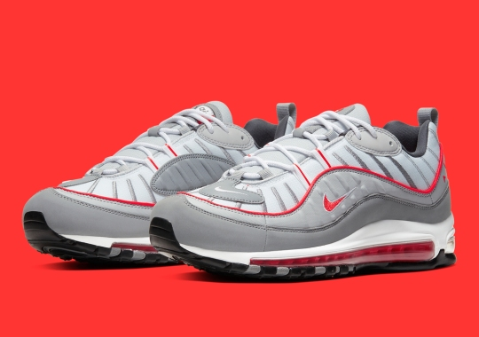 The Nike Air Max 98 Arrives In Particle Grey And Red