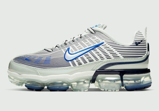 The Nike Air Vapormax 360 Pairs A Clean Spruce Aura And Racer Blue