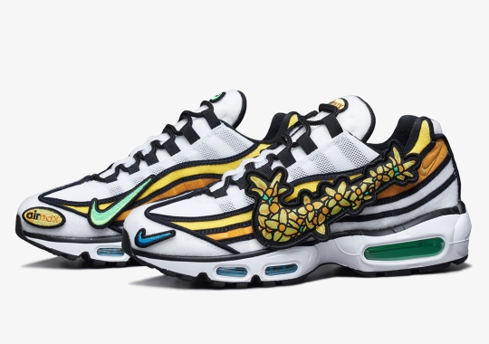 """Nike Korea Celebrates Spring With The Velcro Covered Air Max 95 """"Pollen Rise"""""""