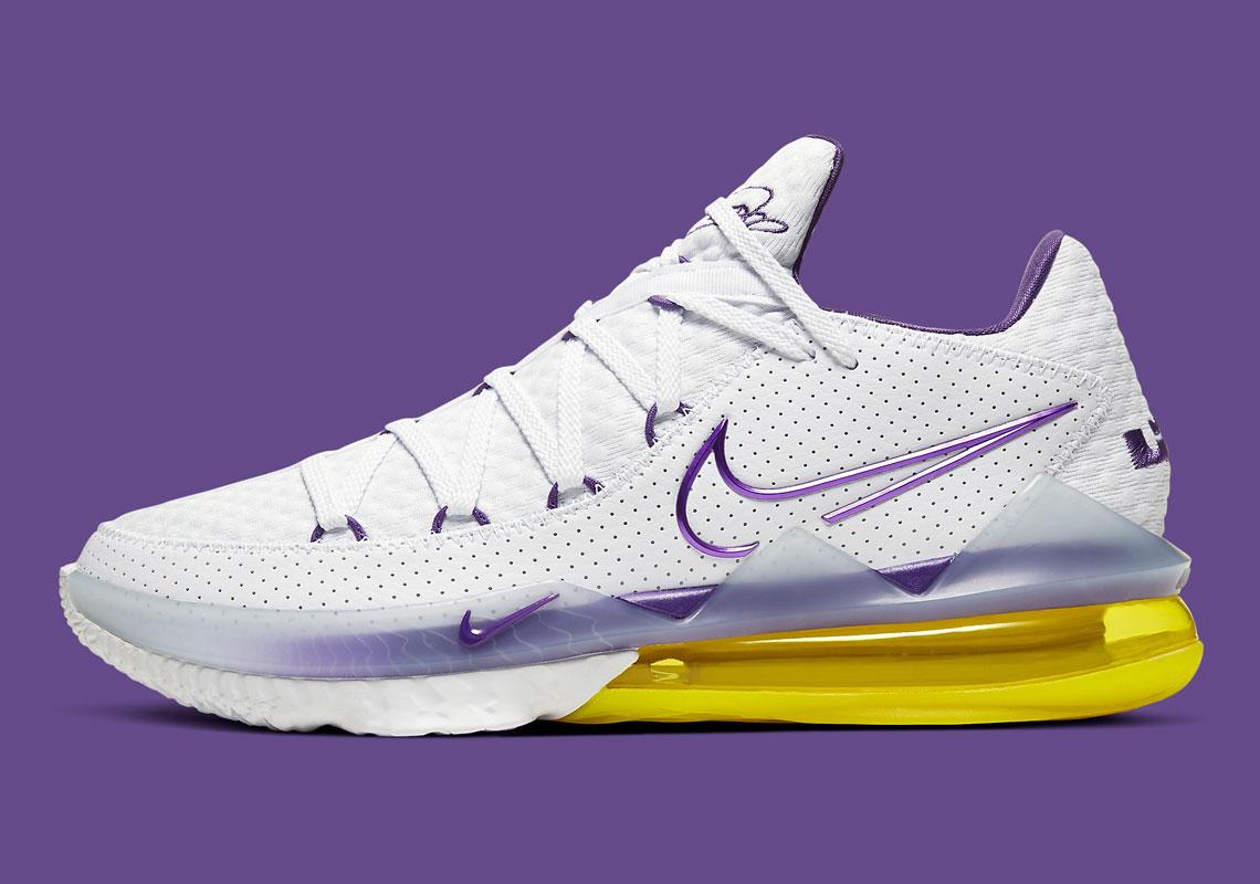 administración Pedir prestado Casi muerto  Nike LeBron 17 Low Lakers Home CD5007-102 | SneakerNews.com