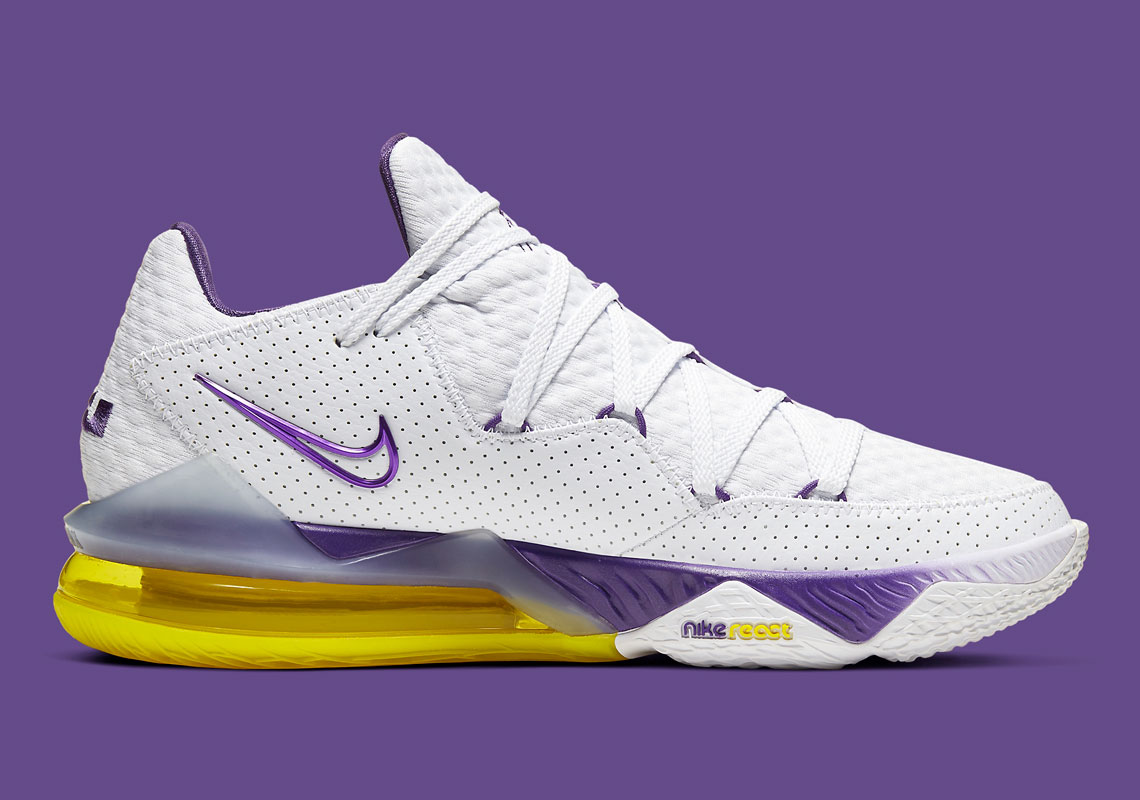 Nike LeBron 17 Low Lakers Home CD5007-102 | SneakerNews.com