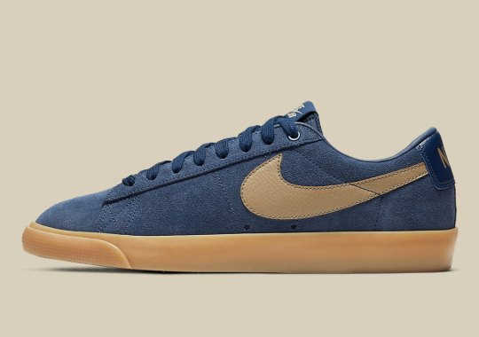 Nike SB Serves Up A Blazer Low GT In Midnight Navy And Gum