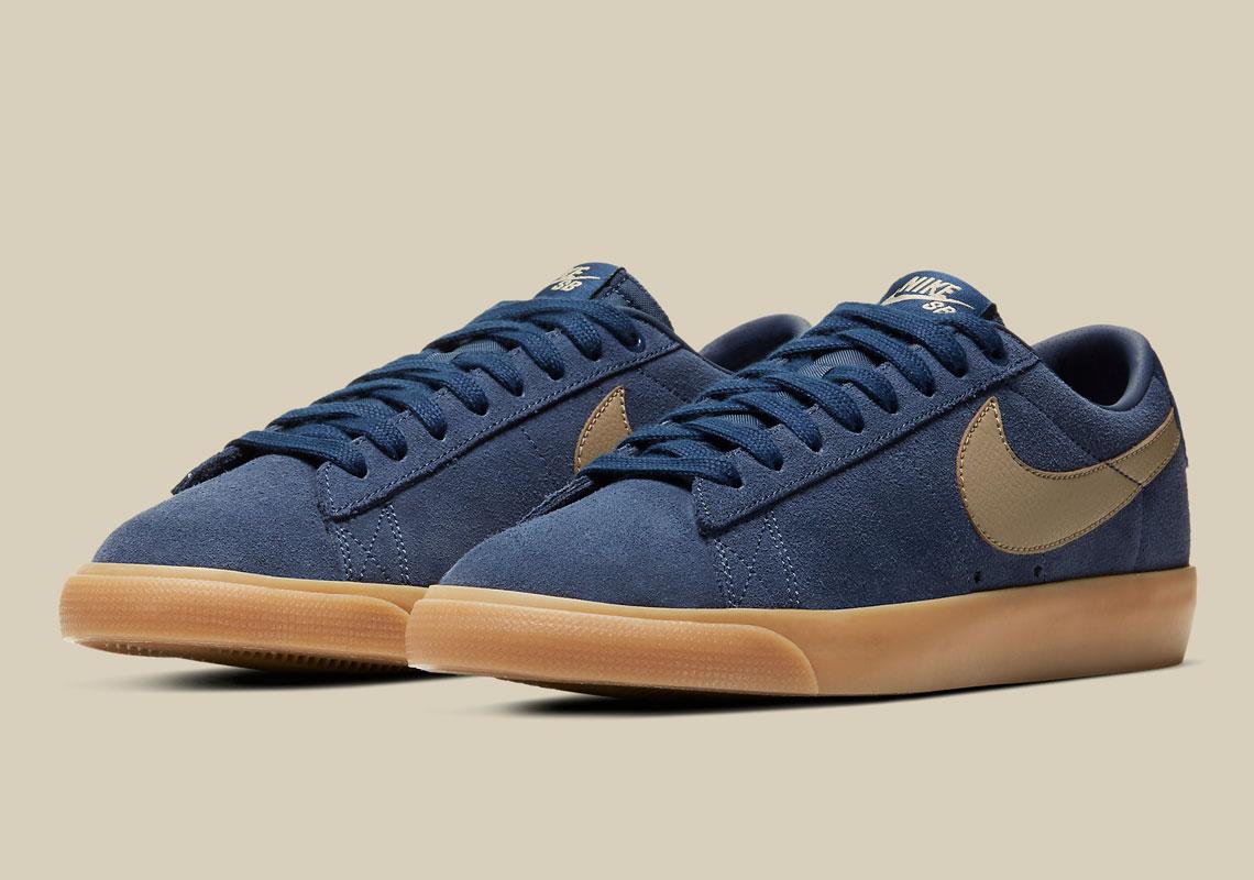 estar impresionado intimidad Nueva Zelanda  Nike SB Blazer Low GT Navy Gum 704939-403 | SneakerNews.com