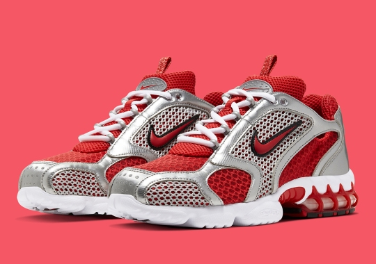 """Official Images Of The Nike Spiridon Caged """"Varsity Red"""""""