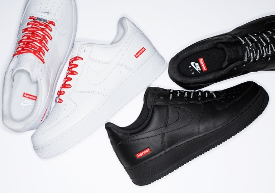 Supreme Announces Release Date For Nike Air Force 1 Low Collaboration; Restocks Confirmed