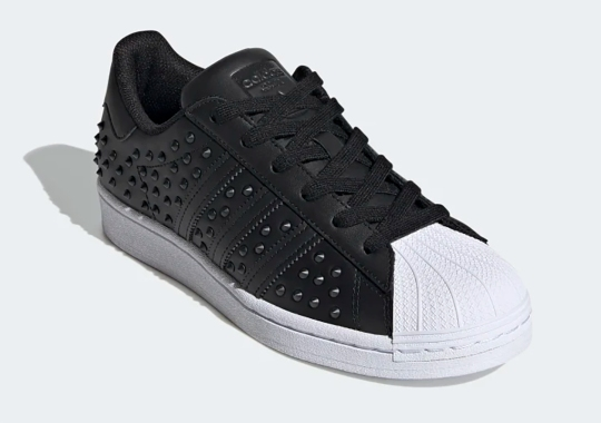 The Studded adidas Superstar Arriving In An Inverted Black And White
