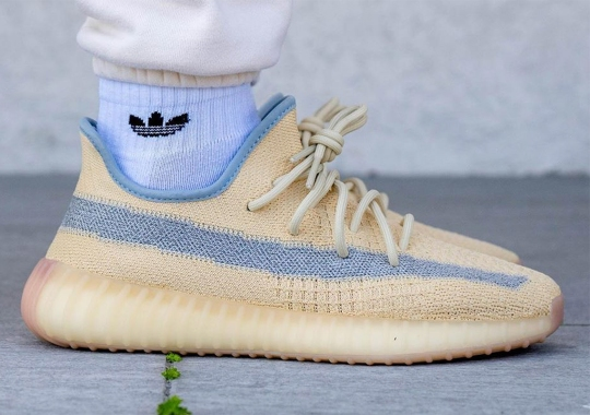 "Best Look Yet At The adidas Yeezy Boost 350 v2 ""Linen"""
