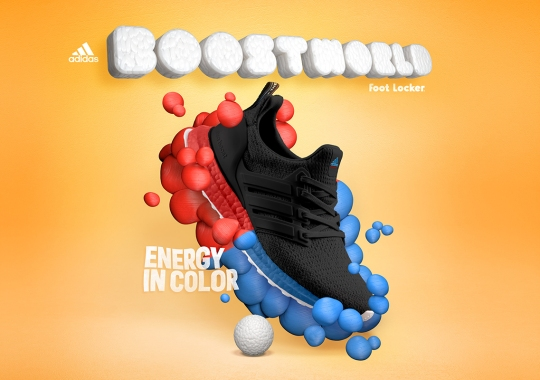 "adidas And Foot Locker To Launch BOOST WORLD With ""Energy Of Color"" Collection"
