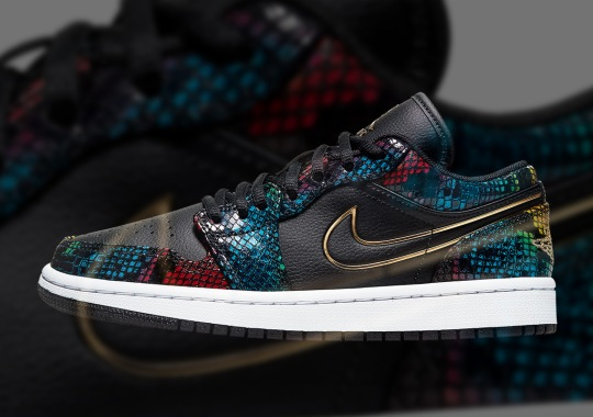 The Air Jordan 1 Low Gets Covered In Multi-Colored Snakeskin