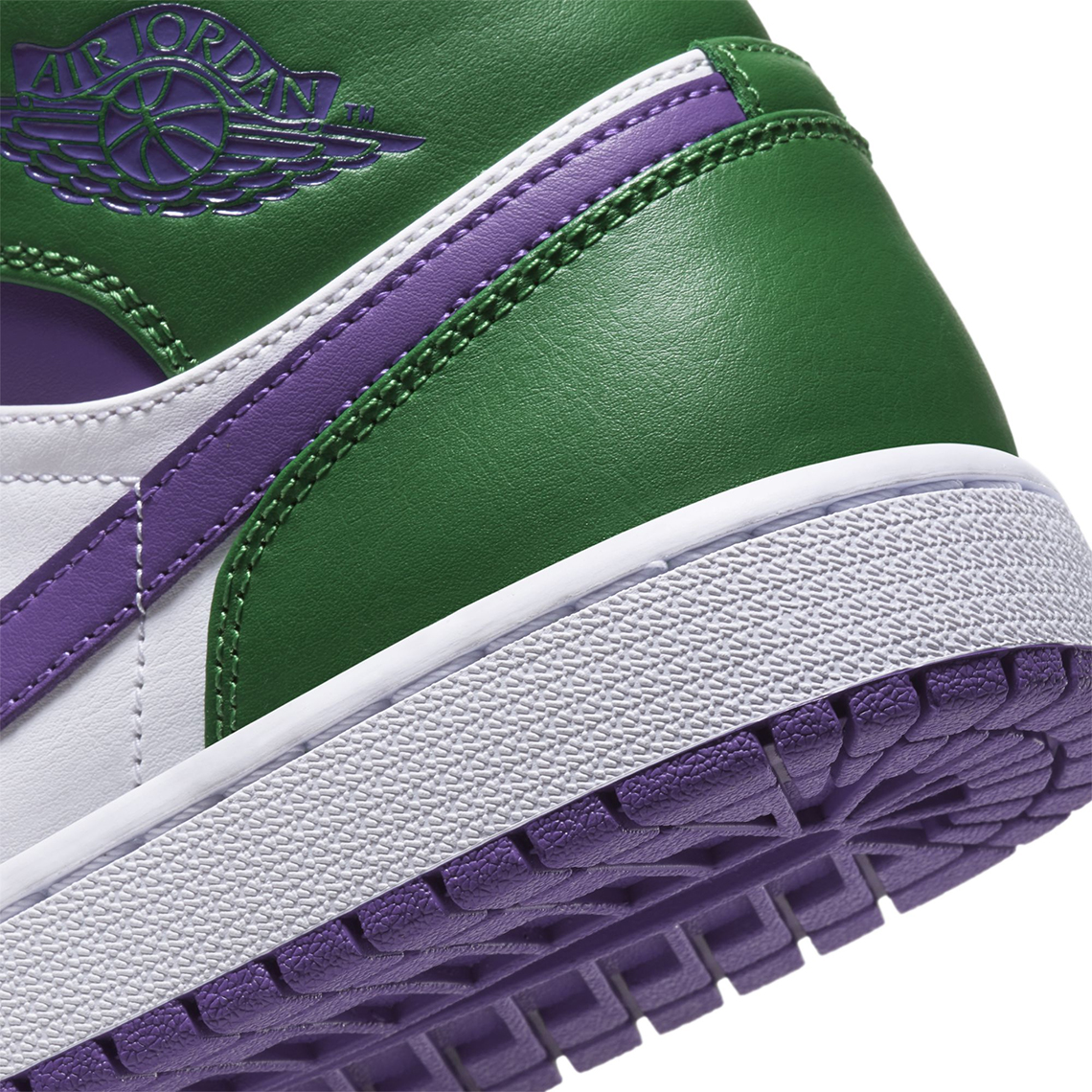 Air Jordan 1 Mid Hulk Green Purple 554724-300 | SneakerNews.com