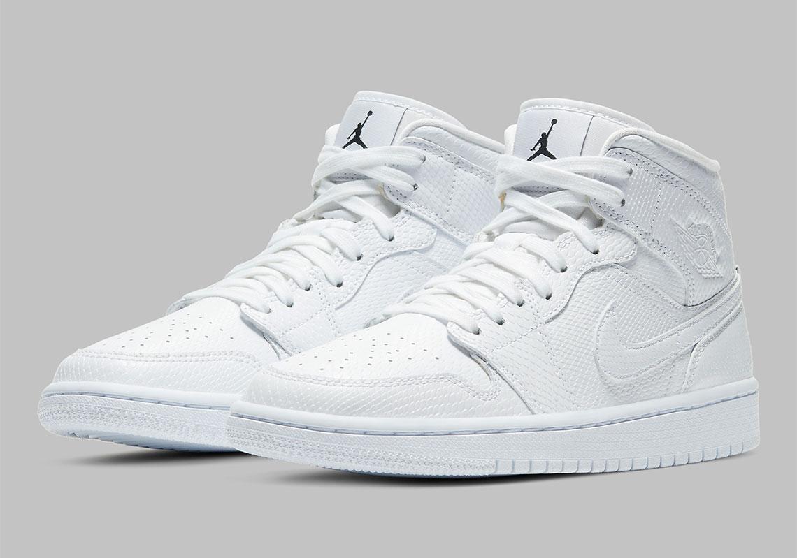 Air Jordan 1 Mid White Snakeskin Bq6472 110 Release Info Sneakernews Com