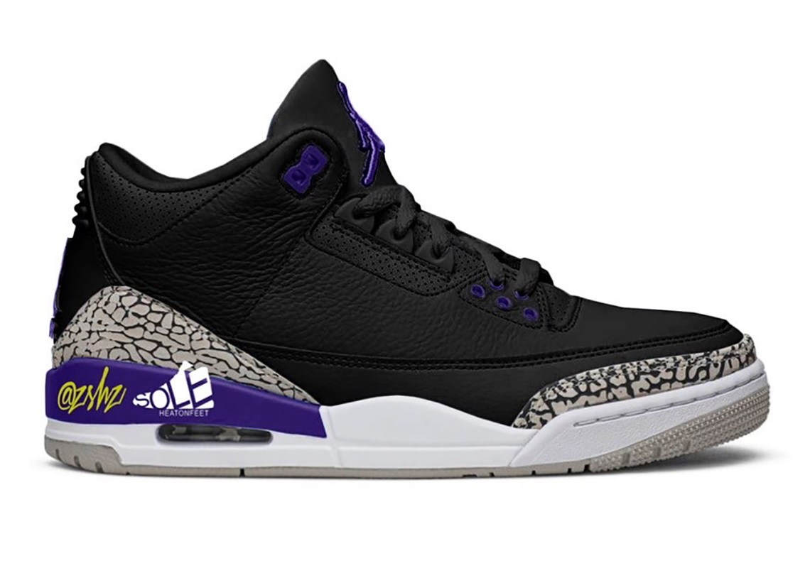 Air Jordan 3 Court Purple CT8532-050