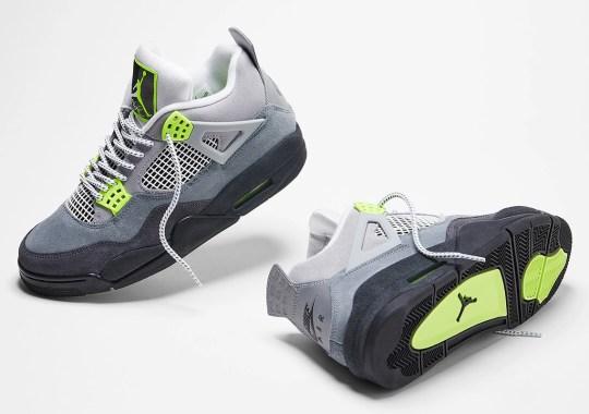 "The Air Jordan 4 Retro SE ""Neon"" Releases Tomorrow"