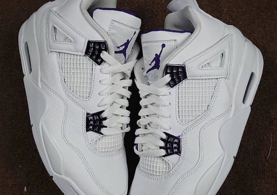 """First Look At The Air Jordan 4 """"Court Purple"""""""