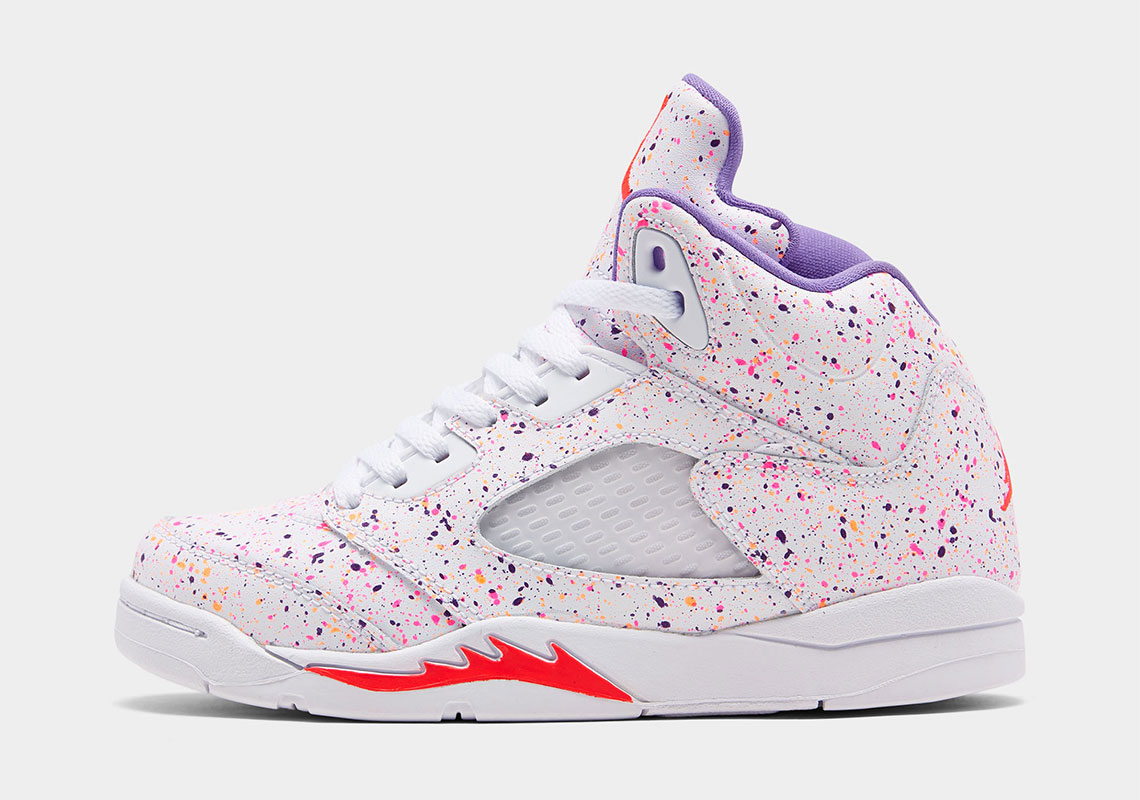 """Air Jordan 5 Multicolor splatter """