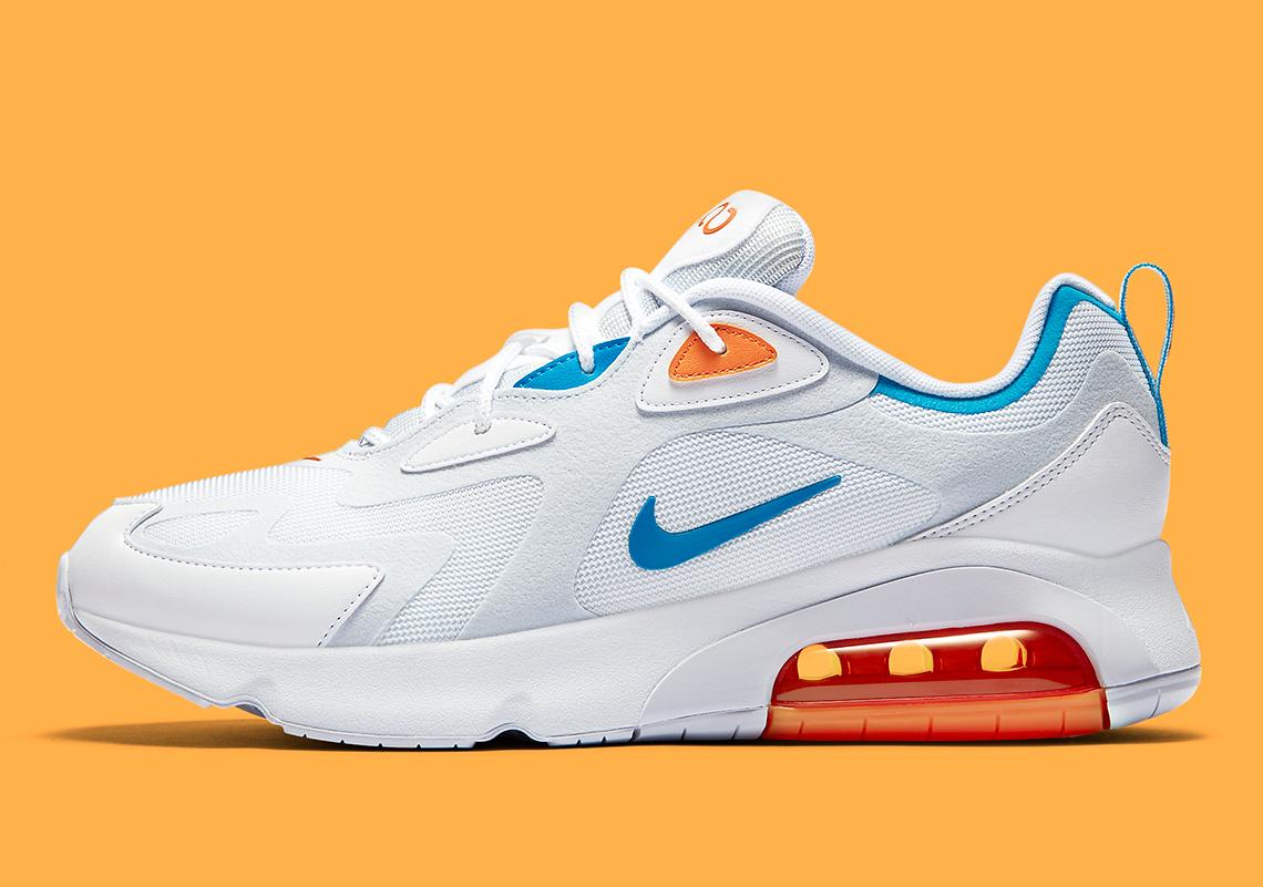 air max 200 blue and orange