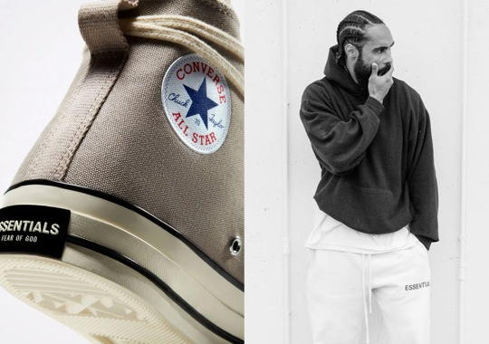 The Grey Colorway Of The Fear Of God ESSENTIALS x Converse Chuck 70 Is Re-Releasing This Week