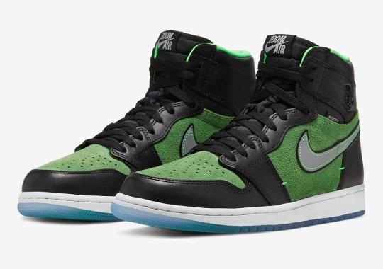 "Detailed Look At The Air Jordan 1 High Zoom ""Zen Green"""