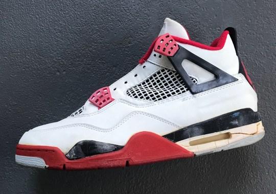 "Air Jordan 4 ""Fire Red"" With Nike Air Releasing Black Friday 2020"