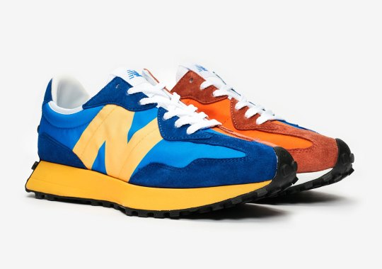 The New Balance 327 Is Dropping In Alternate Orange And Blue Colorblocking