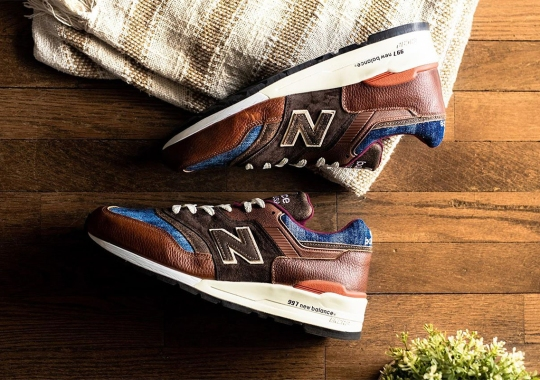This New Balance 997 In Brown Leather And Denim Continues The Workwear Trend