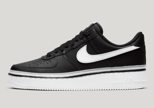 Nike's Ribboned Air Force 1 Appears In A Clean Black And White
