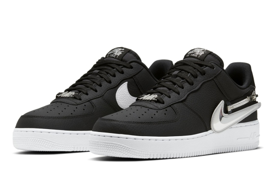 The Nike Air Force 1 Experiments With Zip-On Swoosh Logos