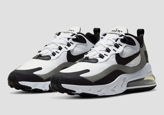 The Nike Air Max 270 React Goes Greyscale With Latest Colorway