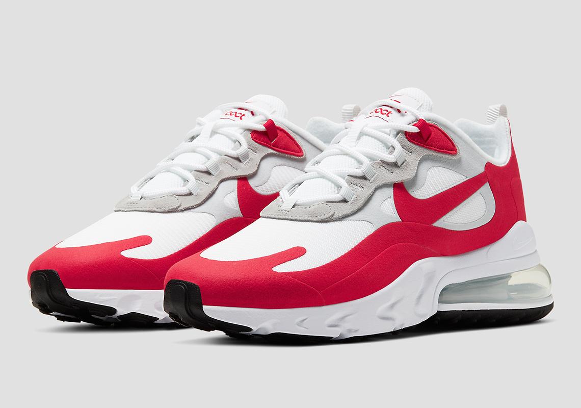 air max 270 react white red