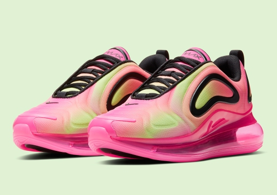 The Nike Air Max 720 Sprays On Pink And Neon Green