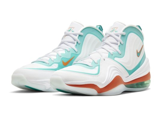 "The Nike Air Penny V Arrives In Another ""Dolphins"" Colorways"
