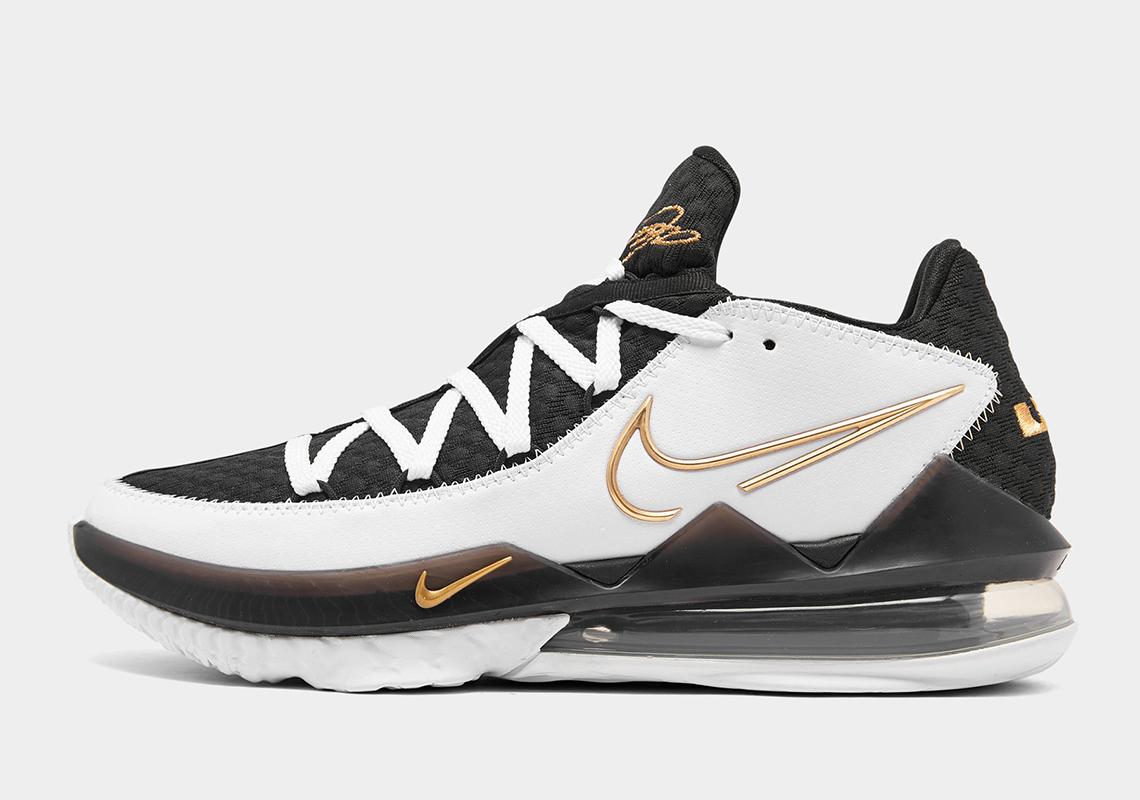 Nike LeBron 17 Low White Gold Sheriff