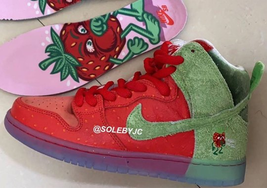 """Nike SB's Dunk High For 4/20 Recognizes The """"Strawberry Cough"""" Strain"""