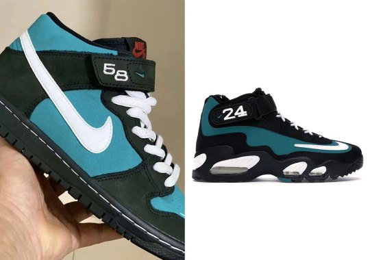 "Nike SB Dunk Mid Inspired By The Air Griffey Max 1 ""Freshwater"" Set For April Release"