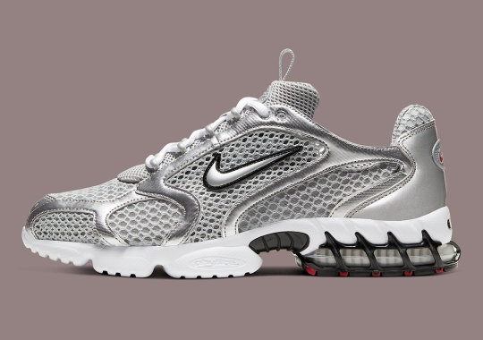 """Official Look At The Nike Spiridon Caged """"Metallic Silver"""""""