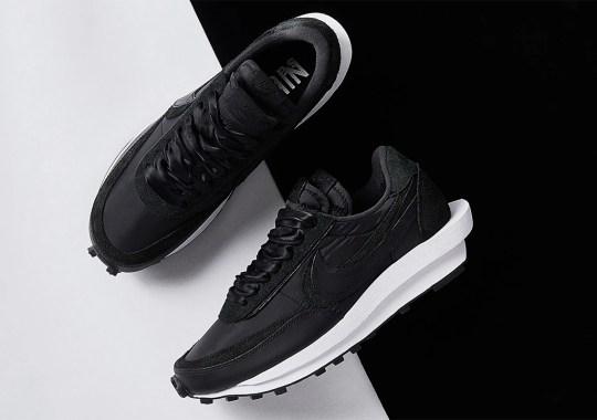 Where To Buy The sacai x Nike LDWaffle Black Nylon