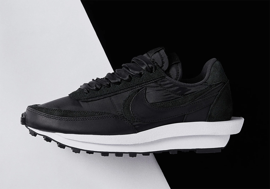 sacai Nike LDWaffle Black Nylon BV0073