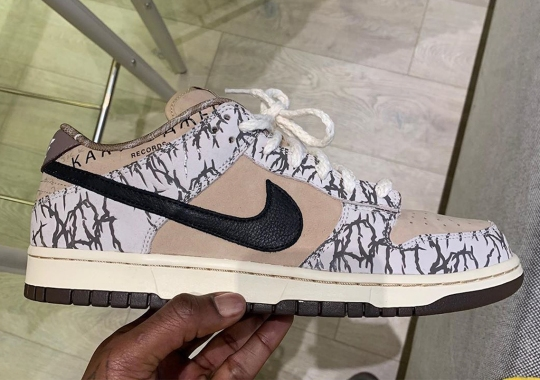 Travis Scott Reveals Early Sample Of His Nike SB Dunk Low Collaboration