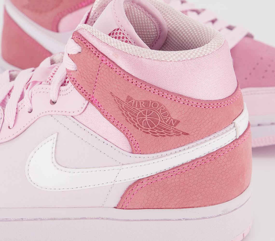 womens air jordan 1 mid digital pink