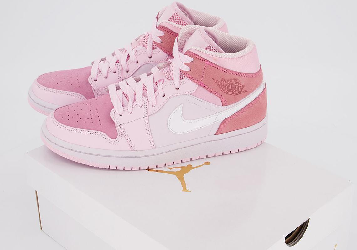Air Jordan 1 Mid Digital Pink Cw5379 600 Release Info Photos