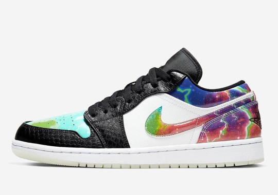 Psychedelic Galaxy Prints And Textured Leathers Join The Air Jordan 1 Low