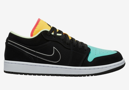 The Air Jordan 1 Low Pairs Neon With Neon For Spring
