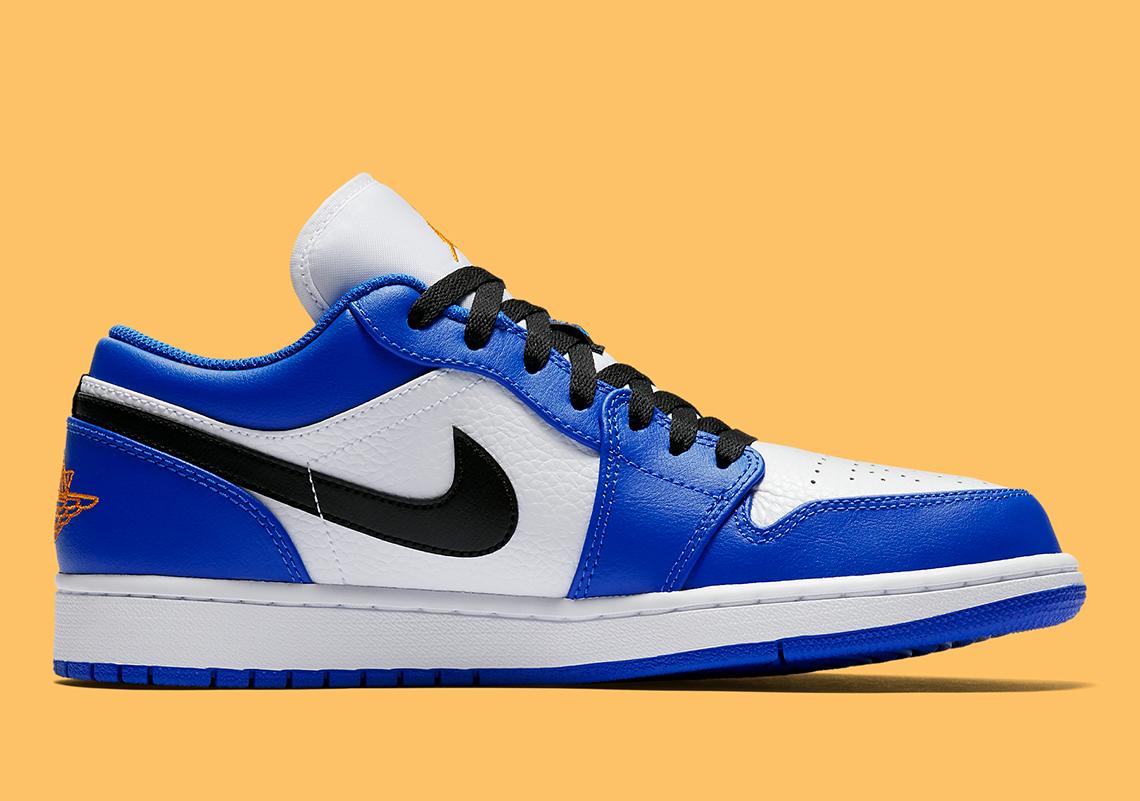 blue orange jordans