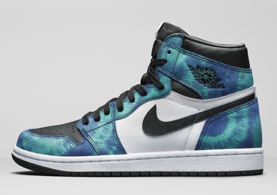 """The Women's Air Jordan 1 Retro High OG """"Tie Dye"""" Boasts A Graphic Pattern For The First Time"""