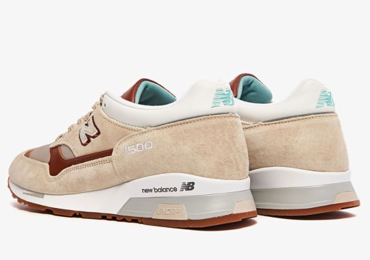 New Balance Pairs A Curry Brown With Turquoise Hits On This 1500