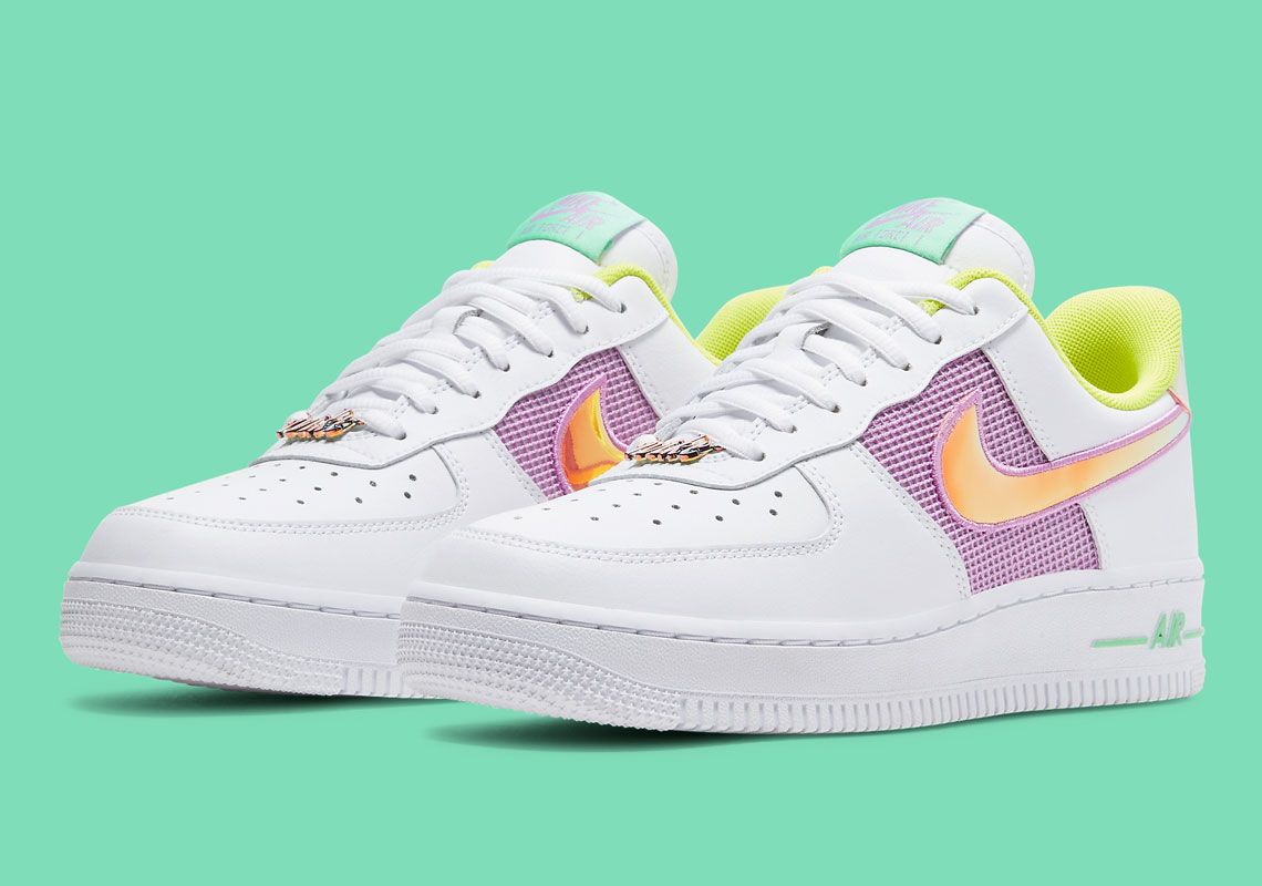 Nike Air Force 1 Easter Cw5592 100 Sneakernews Com The nike air force 1 shadow continues to expand on color options available. nike air force 1 easter cw5592 100