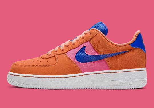 "The Nike Air Force 1 Low ""Orange Trance"" Features Transparent Swooshes"