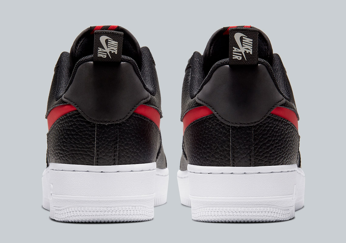 2020 Nike Air Force 1 Low Utility Bred Black Red For Sale