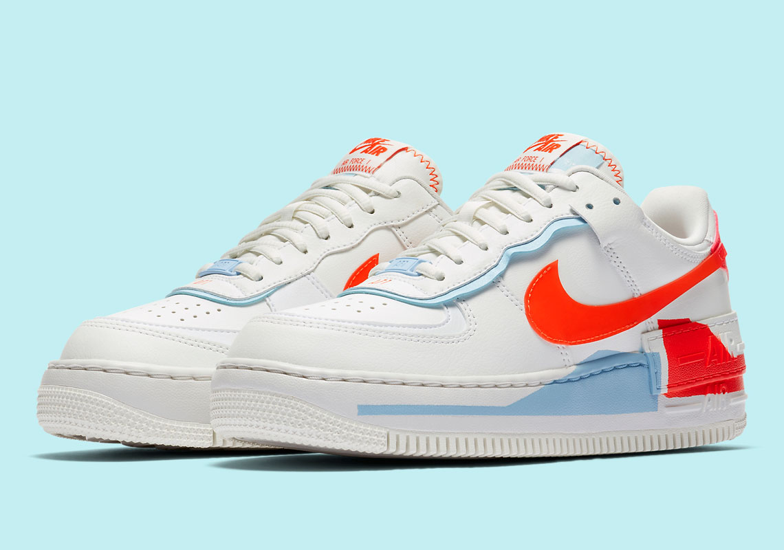 Nike Air Force 1 Shadow Team Orange Cq9503 100 Sneakernews Com
